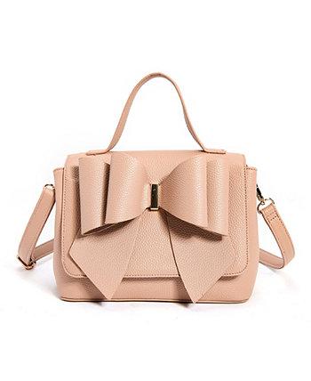 Женская сумка-портфель с двумя бантами LIKE DREAMS