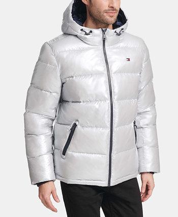 Мужское перламутровое спортивное пальто с капюшоном Tommy Hilfiger