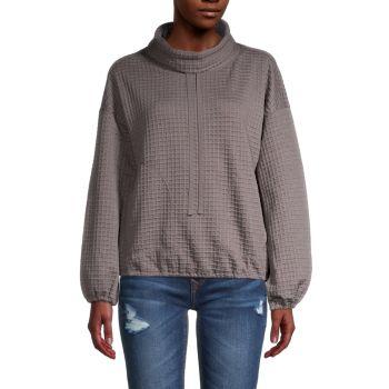 Вафельный пуловер с воротником-стойкой Max Studio