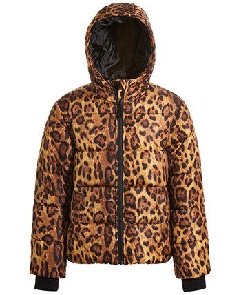 Пуховик с леопардовым принтом для больших девочек S Rothschild & CO