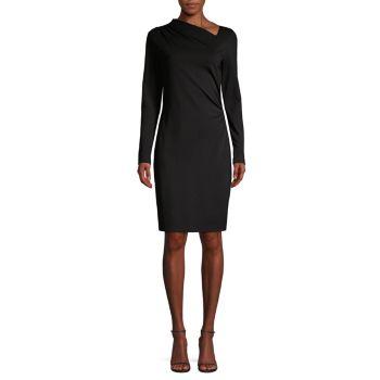 Асимметричное платье двойной вязки Mozelle Elie Tahari