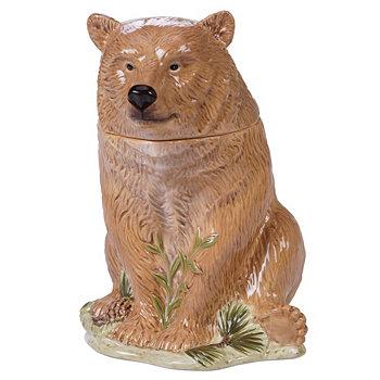 Сертифицированная 3-мерная банка для печенья с медведем International Mountain Retreat Tracy Porter