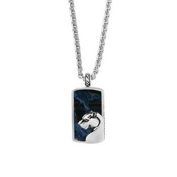 Ожерелье из собачьей бирки из стерлингового серебра с петерситом Effy