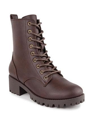 Женские армейские ботинки Reggie на шнуровке с выступом на подошве Sugar