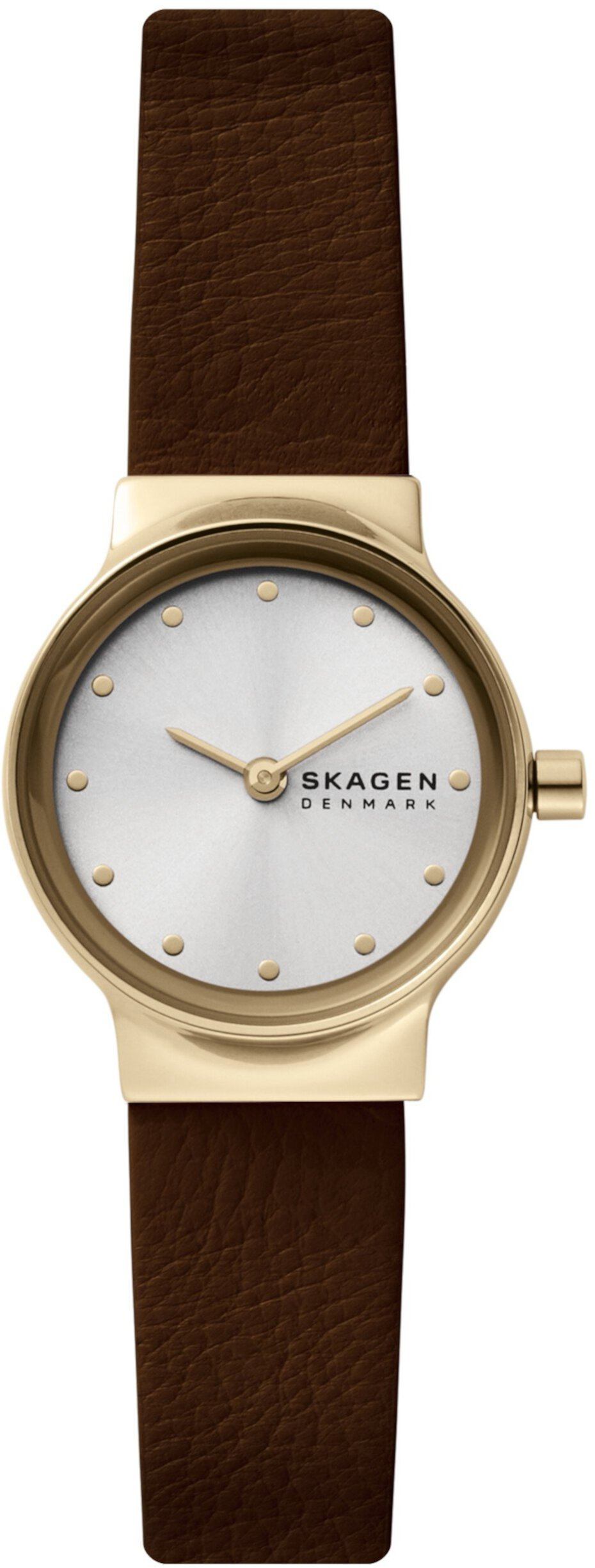 Кожаные часы с двумя стрелками Freja Skagen