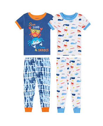 Одежда для сна с крабами для маленьких мальчиков, комплект из 4 предметов Koala baby