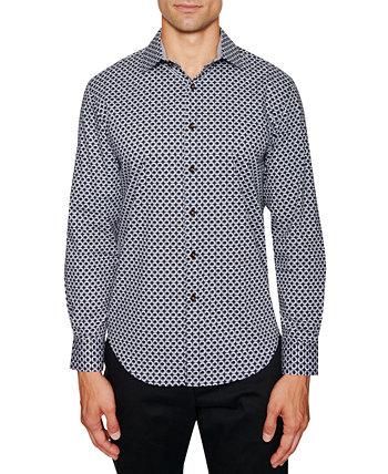 Мужская приталенная рубашка с круглым принтом Tallia
