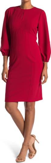 Keyhole Cutout Scuba Crepe Dress Donna Morgan