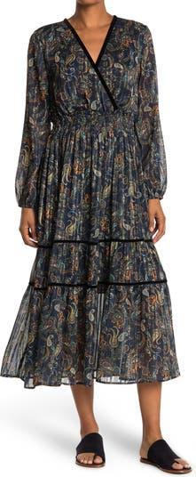 Макси-платье с принтом пейсли Haute Hippie