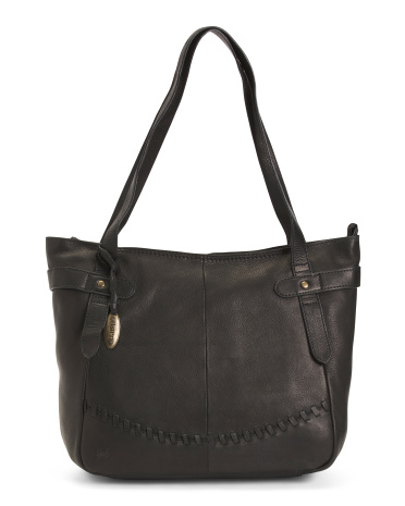 Leather Talley Tote Born
