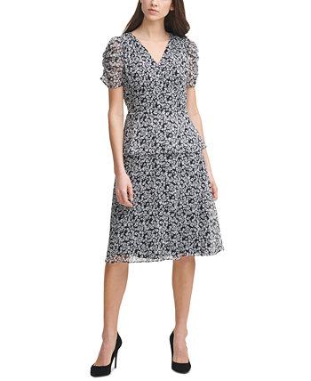 Шифоновое платье с принтом Karl Lagerfeld Paris