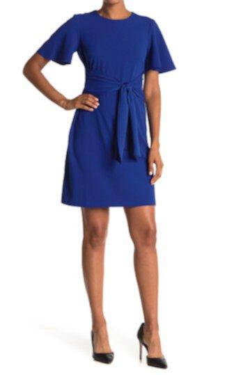 Платье с развевающимися рукавами и завязками на талии Donna Morgan