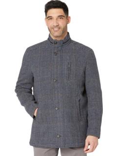 Шерстяное пальто в клетку Johnston & Murphy
