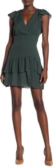 Мини-платье Surplice с оборками Parker