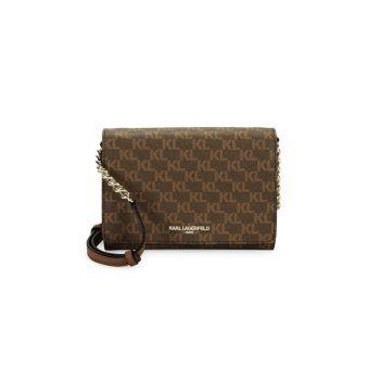Сумка через плечо с принтом логотипа Connie Karl Lagerfeld Paris