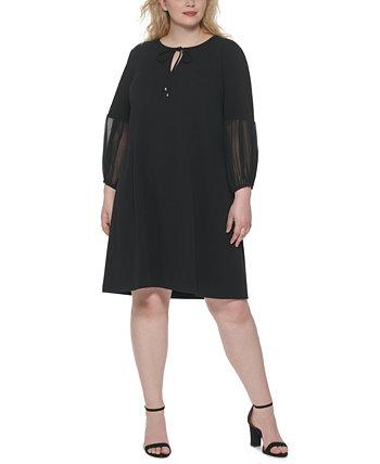Платье прямого кроя с шифоновыми рукавами больших размеров Tommy Hilfiger