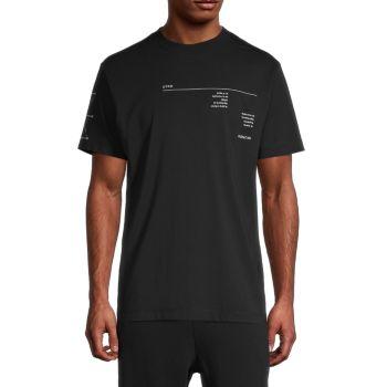 Abstract Graphic T-Shirt Marcelo Burlon