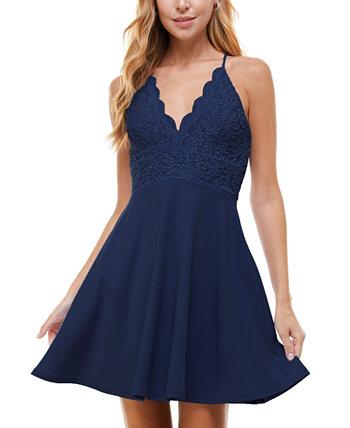 Юниорское платье с блестками и пышной юбкой City Studios