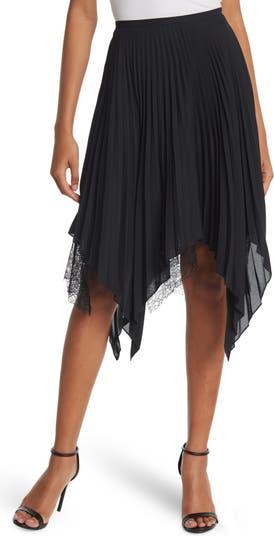 Кружевная юбка со складками и высокой низкой посадкой Haute Hippie