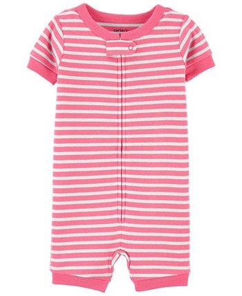 Детские пижамы в полоску для мальчиков и девочек Carter's