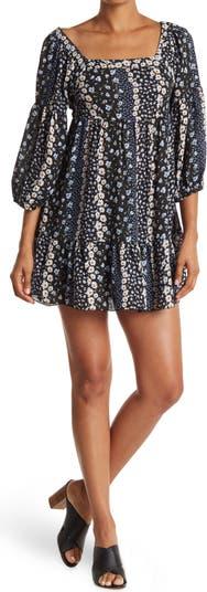 Платье Wall Paper с цветочным рисунком и квадратным вырезом KENEDIK