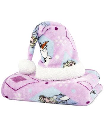 Дорожное одеяло и шляпа Санта-Клауса Frozen
