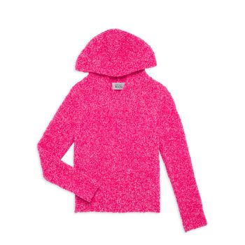 Girl's Italian Bouclé Knit Hoodie Autumn Cashmere