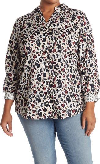 Рубашка-туника без железа с леопардовым принтом Faith Animal Instinct FOXCROFT