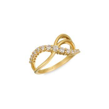 14K Honey Gold ™ & amp; Кольцо с бриллиантом телесного цвета / размер 7 Le Vian