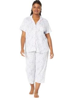 Большой размер Azure Whisper с короткими рукавами для подруги в длинном пижаме Karen Neuburger