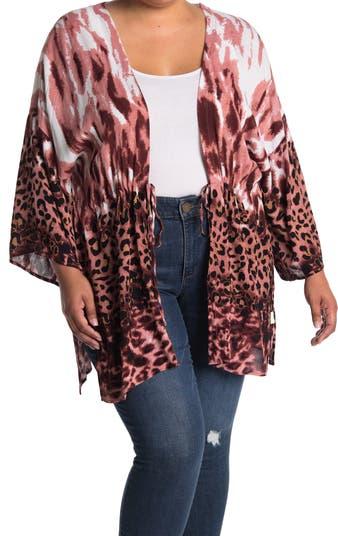Leopard Print Tie Front Kimono LOVESTITCH