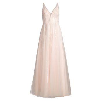 Платье на лифе с V-образным вырезом и кристаллами Basix Black Label