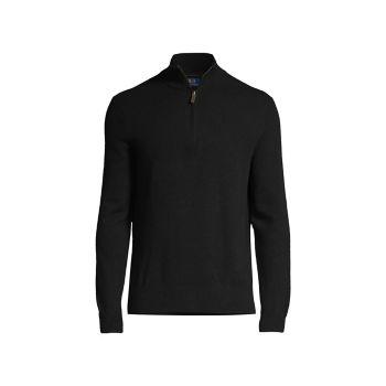 Шерстяной свитер Loryelle на молнии до четверти Polo Ralph Lauren
