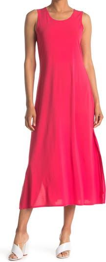 Макси-платье без рукавов с овальным вырезом и боковыми разрезами Papillon