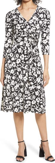 Миди-платье с цветочным принтом и запахом спереди Eliza J