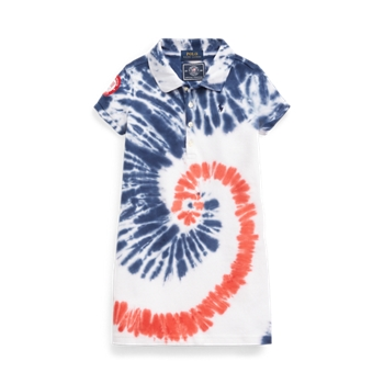 Team USA Tie-Dye Mesh Polo Dress Ralph Lauren