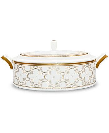 Покрытая золотом миска для овощей Trefolio, 67 унций. Noritake