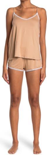 Пижамный комплект из 2 предметов с камзолом и шортами с V-образным вырезом COZY ROZY