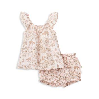 Платье Baby's Annabelle Bunny из двух частей Flutter & amp; Комплект шароваров Elegant Baby