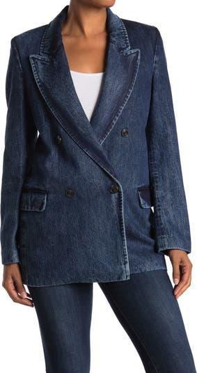 Cockerel Notch Collar Blazer Jacket CLOSED