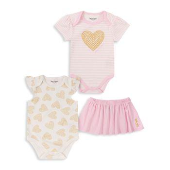 Боди для маленьких девочек & amp; Юбка, комплект из 3 предметов Juicy Couture