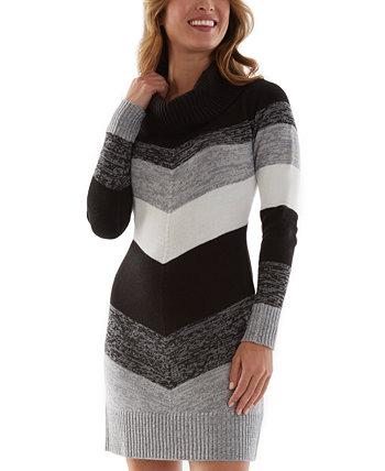 Платье-свитер с хомутом для юниоров с цветными блоками BCX