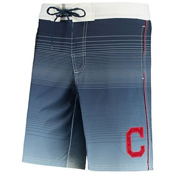 Men's G-III Sports by Carl Banks Navy Cleveland Indians Defense Swim Trunk G-III