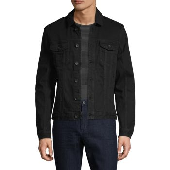 Spread Collar Denim Jacket John Varvatos Star U.S.A.