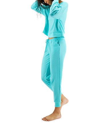 Пижамный комплект с вафельной вязкой, созданный для Macy's Jenni