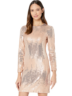 Платье с длинными рукавами и блестками Vince Camuto