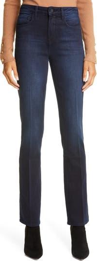 Прямые джинсы с завышенной талией L'AGENCE Oriana LAGENCE