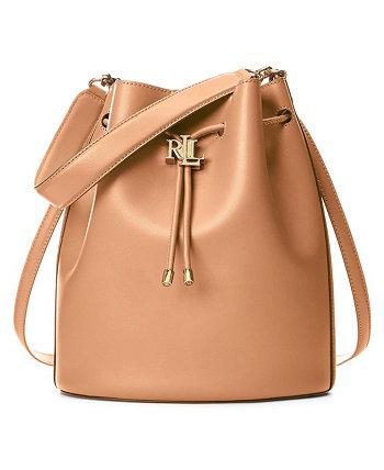Andie Large Leather Drawstring Bag Ralph Lauren