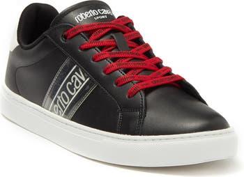 Кроссовки на шнуровке с логотипом Roberto Cavalli