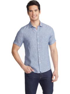 Устойчивая к морщинам льняная рубашка с коротким рукавом UNTUCKit
